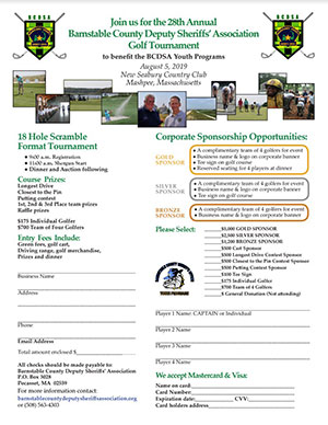 2019 golf registration form